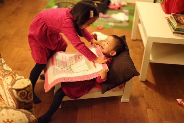 sisters at play