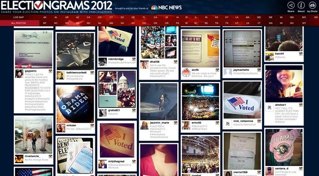 인스타그램을 활용한 electiongrams 2012