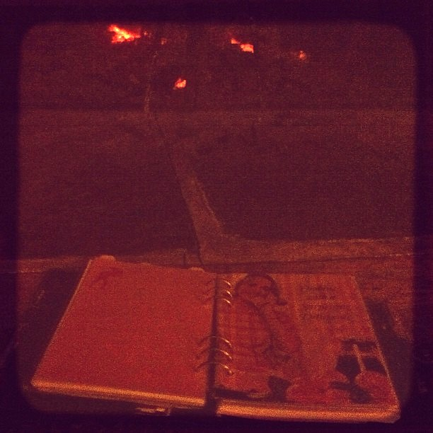 My a5 Malden #filofax enjoying the hearth, warm and toasty at last