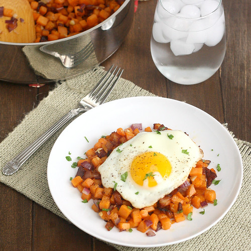 Sweet Potato and Bacon Hash