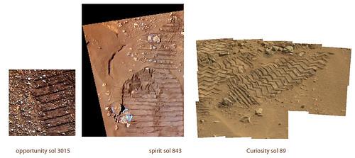 Rover traks on Mars