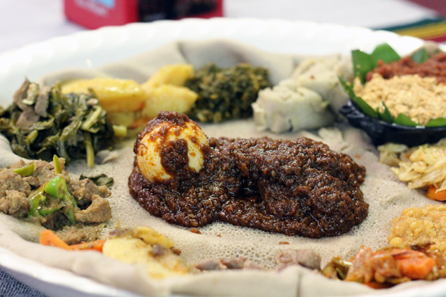 Doro Wot - famous Ethiopian stewed chicken and eggs