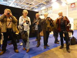 Au stand Flickr à Paris :salon de la photo 2012
