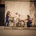 Little Children on Bicycle by Ernest Zacharevic by Just Juls▲