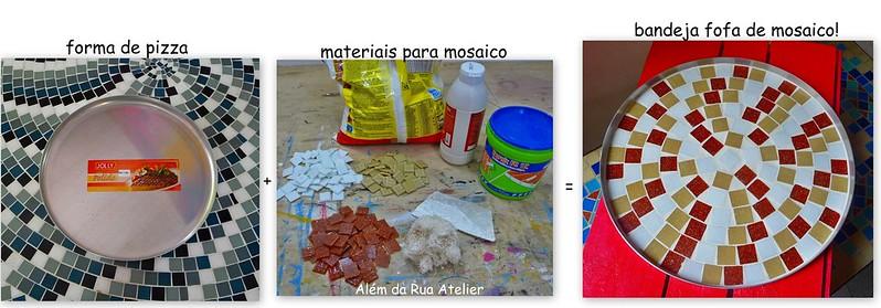 Objeto repaginado com a técnica do mosaico