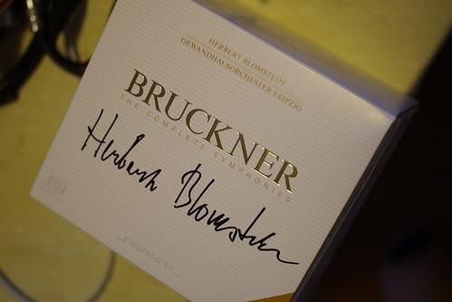 ブルックナー交響曲全集、ブロムシュテット氏のサイン入り