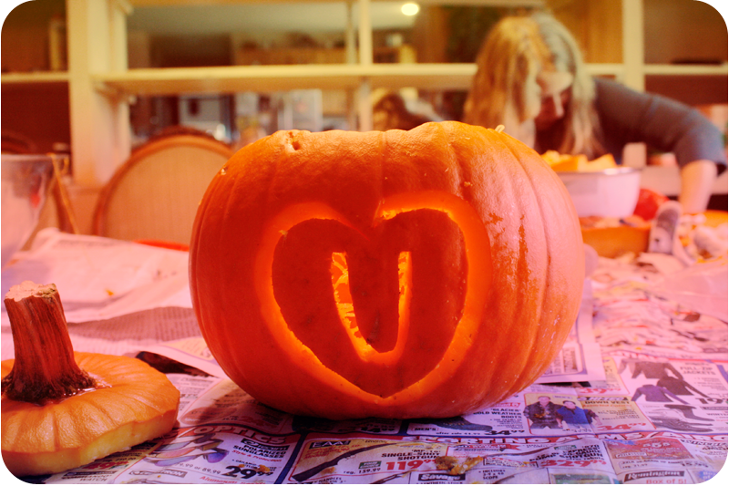 {carving pumpkins}