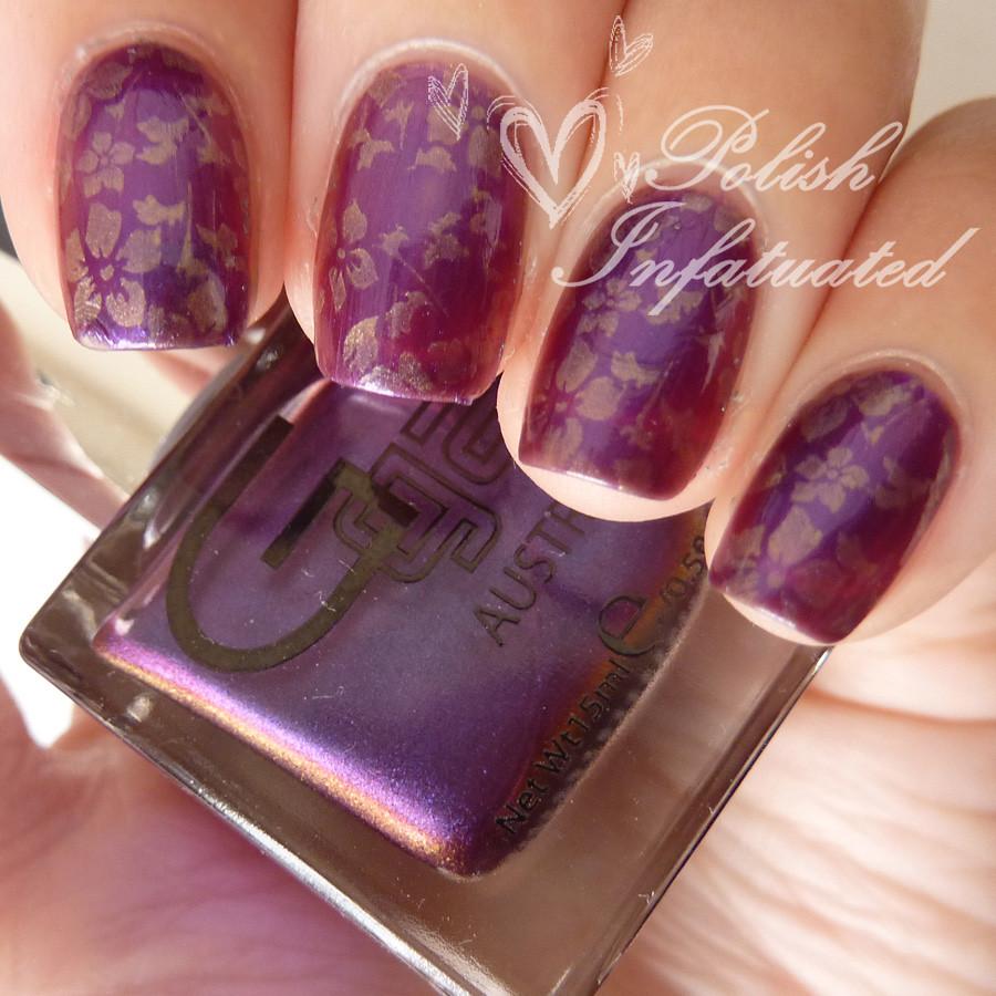 hidden violet stamped
