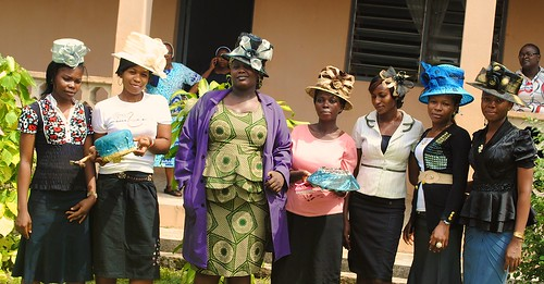 Hat making is yet another skill that the students learn at the Mater Dei Vocational Training Centre, Akure, Ondo State, Nigeria