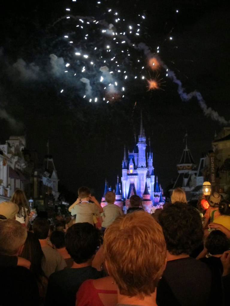 Fireworks in Magic Kingdom, Disney, Orlando