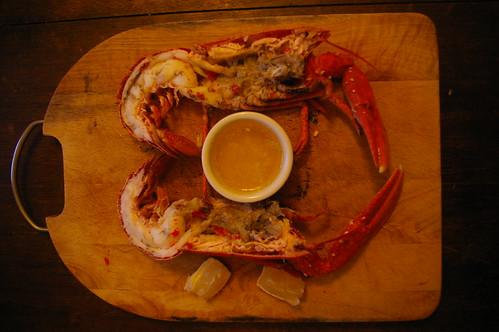 Lobster in half