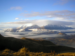 View from Coronet Peak to the Remarkables, NZ