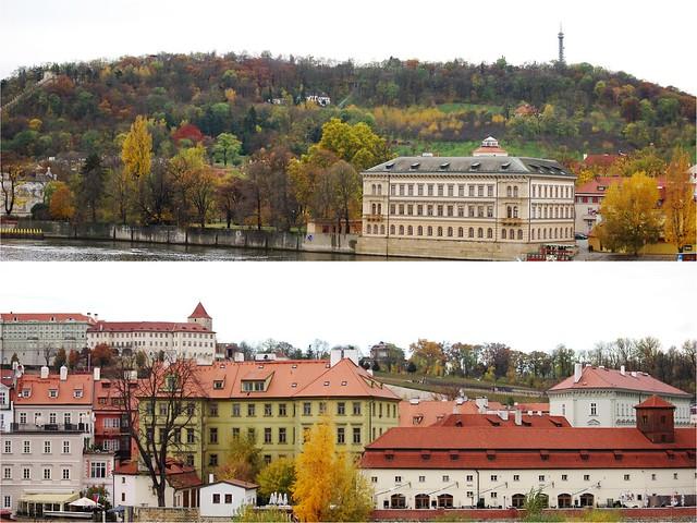 Prague et sa colline
