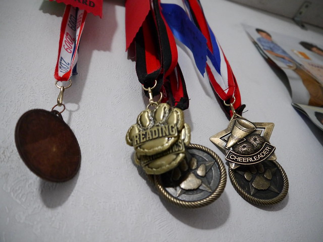 medals from my daughter's elementary school days