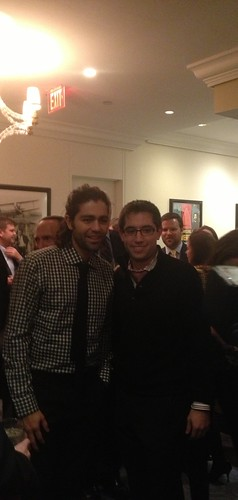 Adrian Grenier with fans