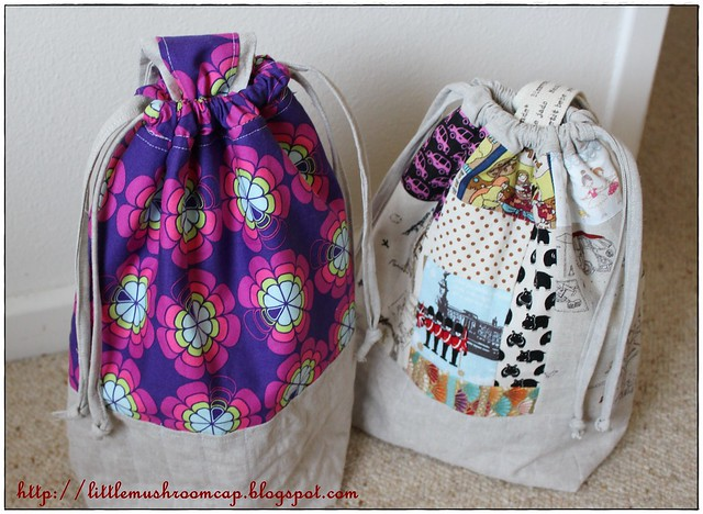 Drawstring Bag With Single Handle