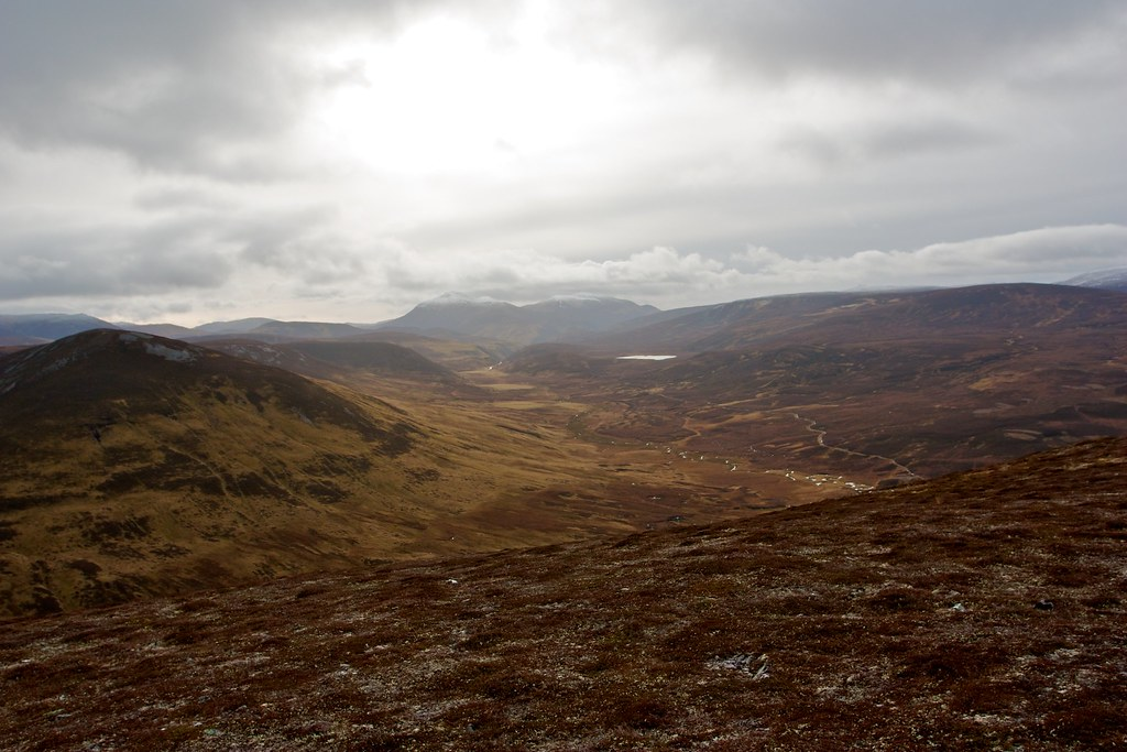Beinn a' Ghlo and the Tilt's headwaters