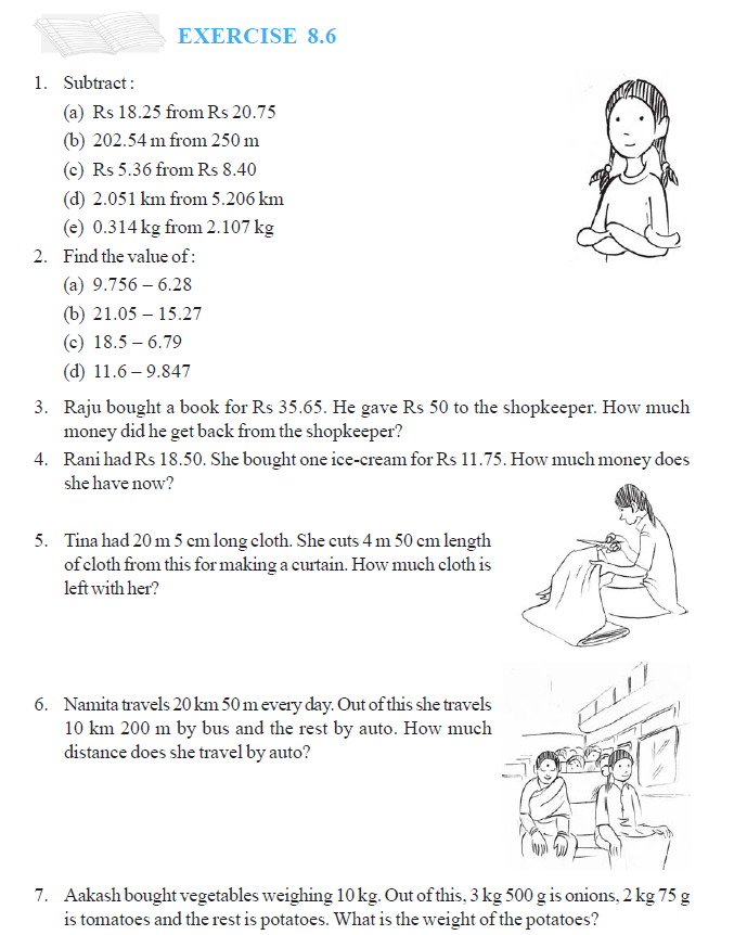 NCERT Class VI Mathematics Chapter 8 Decimals