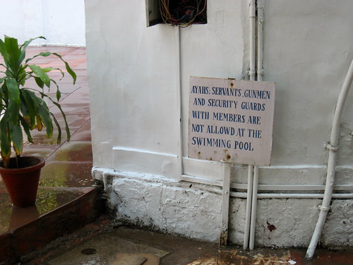 Sign at Gymkhana