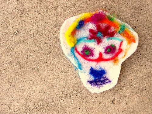 R's felted wool sugar skull