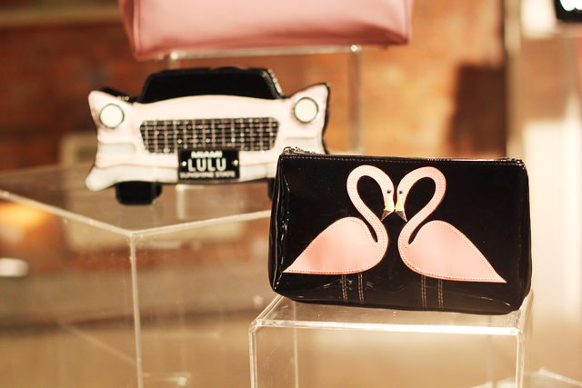 Lulu Guinness SS13 flamingoes and cadillac