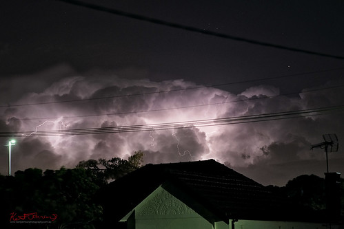 Lightning in Night Clouds - Marrrickville