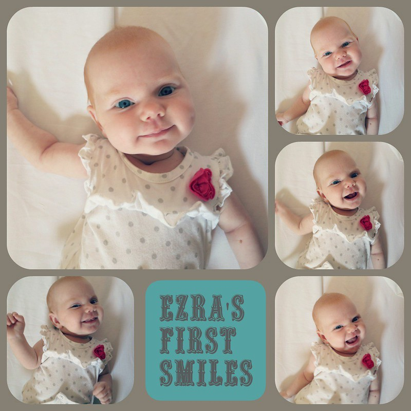 ezra's first smiles collage