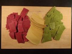 Trefarvet pasta