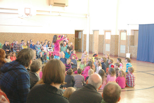 day 3058: school assembly and stone soup!