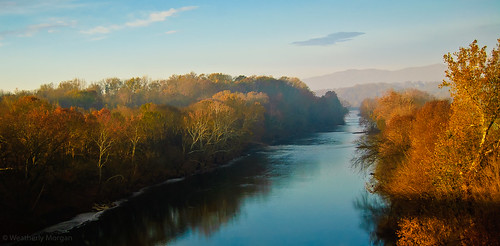 autumn sunrise virginia shenandoahriver frontroyal