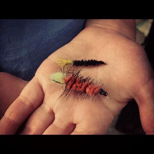 Honor learned to tie flies