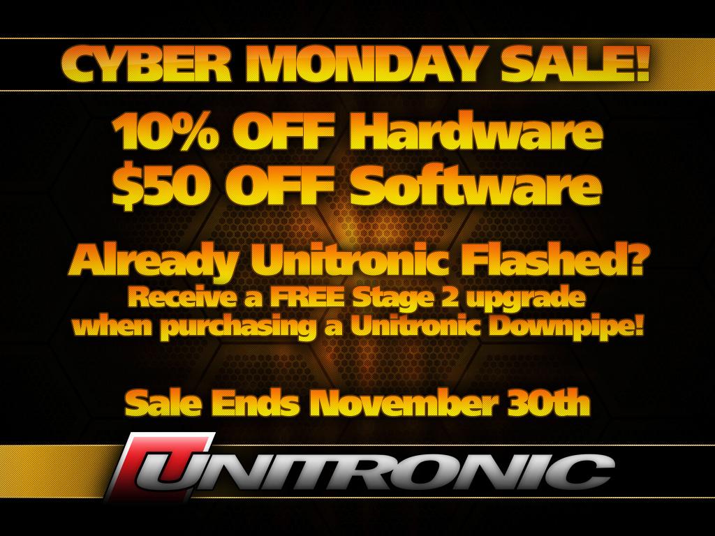 Black Friday/Cyber Monday SALE at Unitronic - Nov 19th to Nov 30th