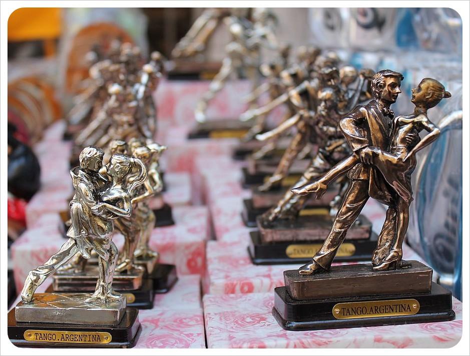 san telmo market tango statues