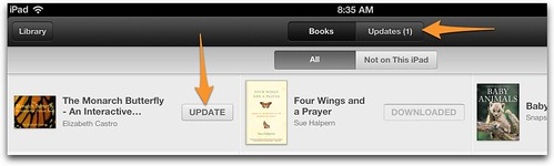 iBooks versioning on iPad