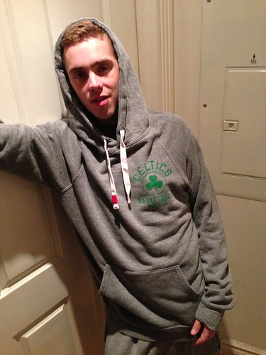 Sammy Adams Boston Celtics Hooded OLSEN Sweatshirt by Sportiqe