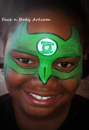 Green lantern mask face paint - photo#7