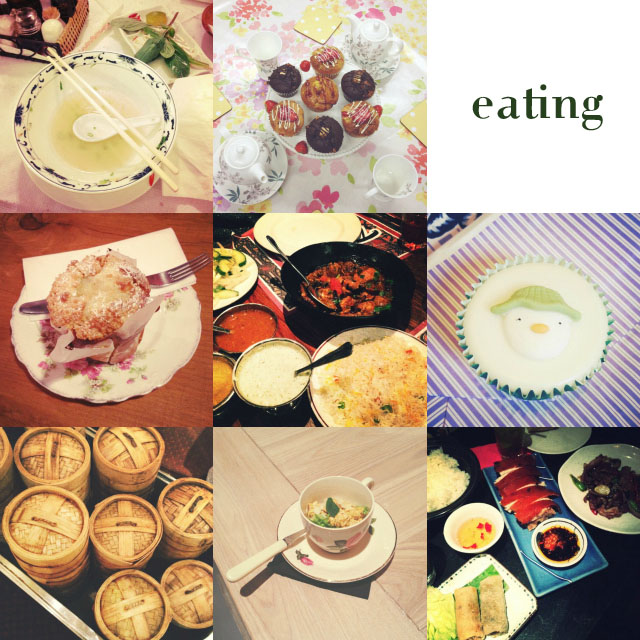 eating food cake teacups instagram blogger post