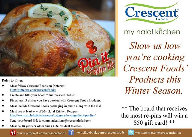 pin it to win it contest flyer with crescent foods