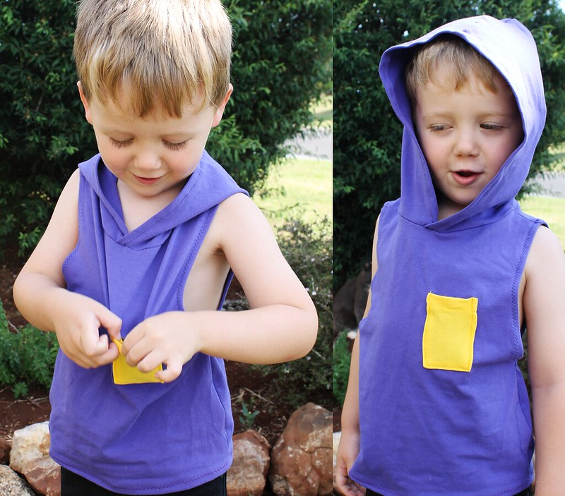 Free Pattern: boys hooded hipster singlet (free pattern in size 3T)  • www.max-california.com