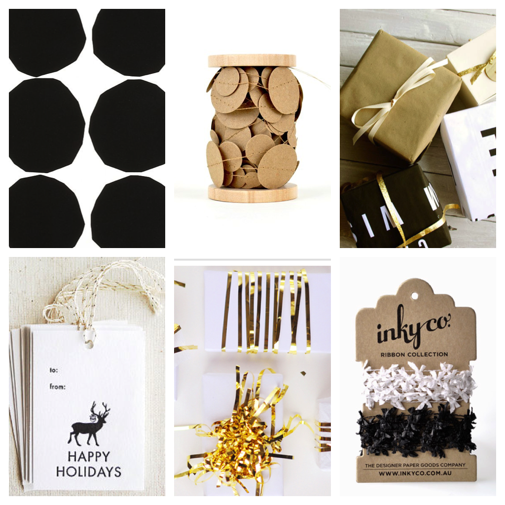 Black:White:Gold Modern Xmas Wrapping 2