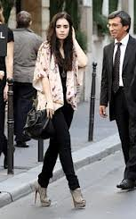 Lily Collins Orient Trend Celebrity Style Women's Fashion