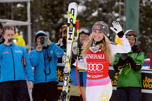 Lindsey Vonn At Lake Louise (file photo)