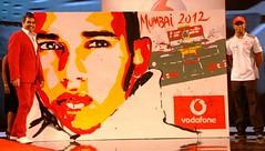 live painting amb Lewis Hamilton a Mumbai (Índia)