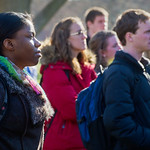 12-060 -- Students gathered on the Eckley Quad for an anti-racism rally.