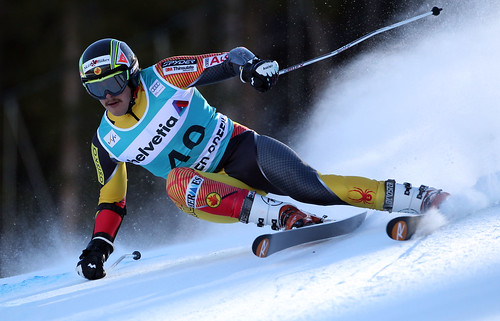 Phil Brown in action in the Beaver Creek World Cup giant slalom.