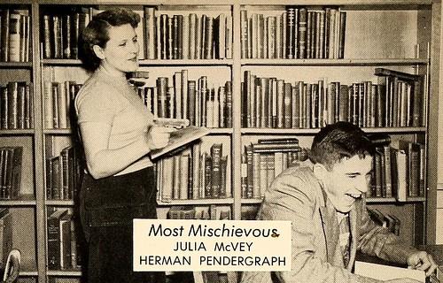 Most Mischievous, Senior Superlatives, Alexander Wilson High School, 1953