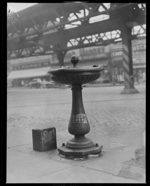 Water fountain on Washington St., South End