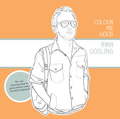 Ryan Gosling coloring book cover