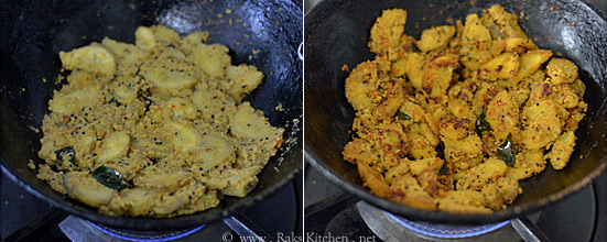 vazhakkai curry step4