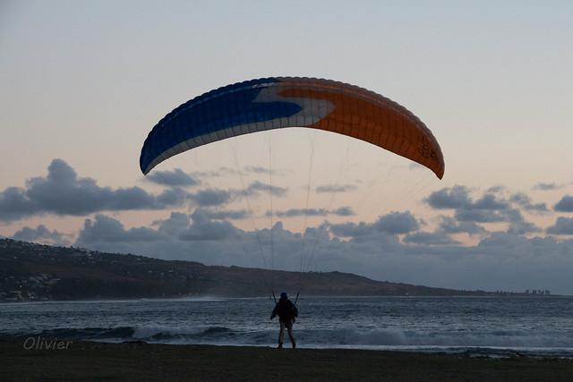 Atterro à la plage à La Réunion